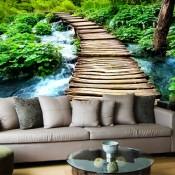 Un rústico puente de madera