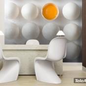 Una atractiva decoración a base de huevos