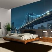 Un vinilo del puente de Brooklyn para decorar el salón