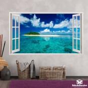 Abre una ventana al paraíso desde tu salón