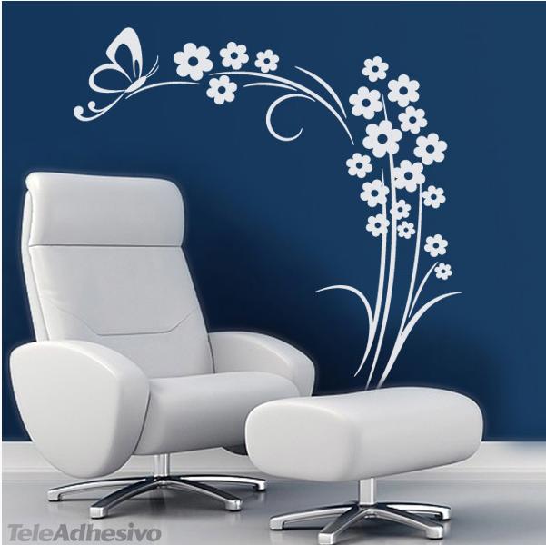 Llena tu casa de flores for Vinilos decorativos blancos