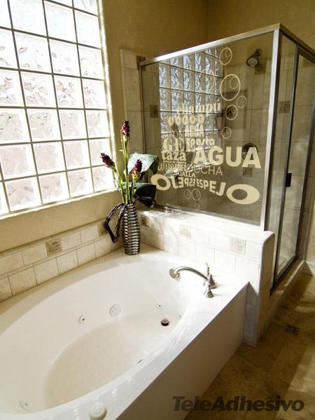 Aplicar un vinilo en nuestra ducha tiene muchas ventajas for Vinilos decorativos bano