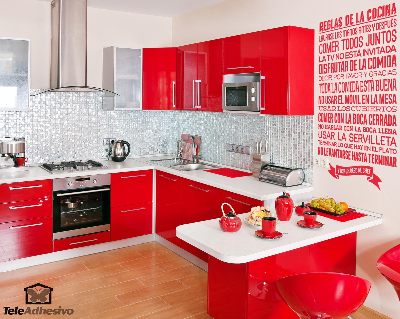 Normas para mejorar la convivencia - Vinilo muebles cocina ...