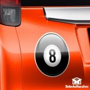 Pegatina para coche: Bola 8