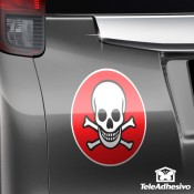 Pegatina para coche: Bandera pirata