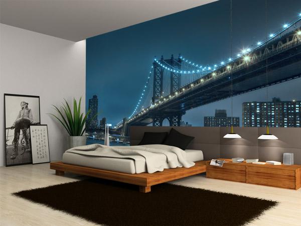 Un vinilo del puente de brooklyn para decorar el sal n for Vinilo exterior pared