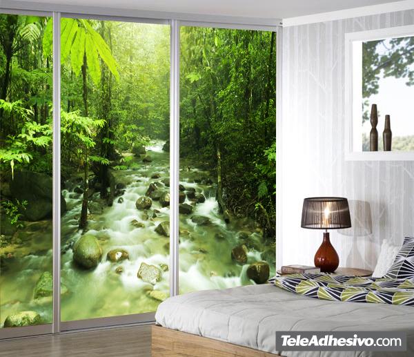 fotomural río de la selva