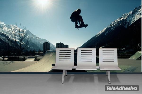 fotomural de skateboard