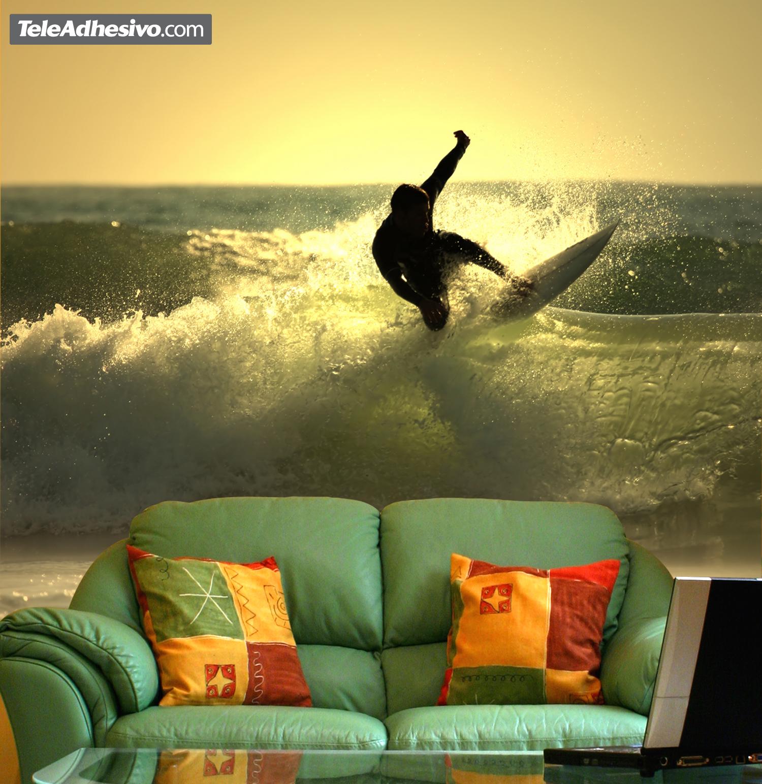 fotomural de surf