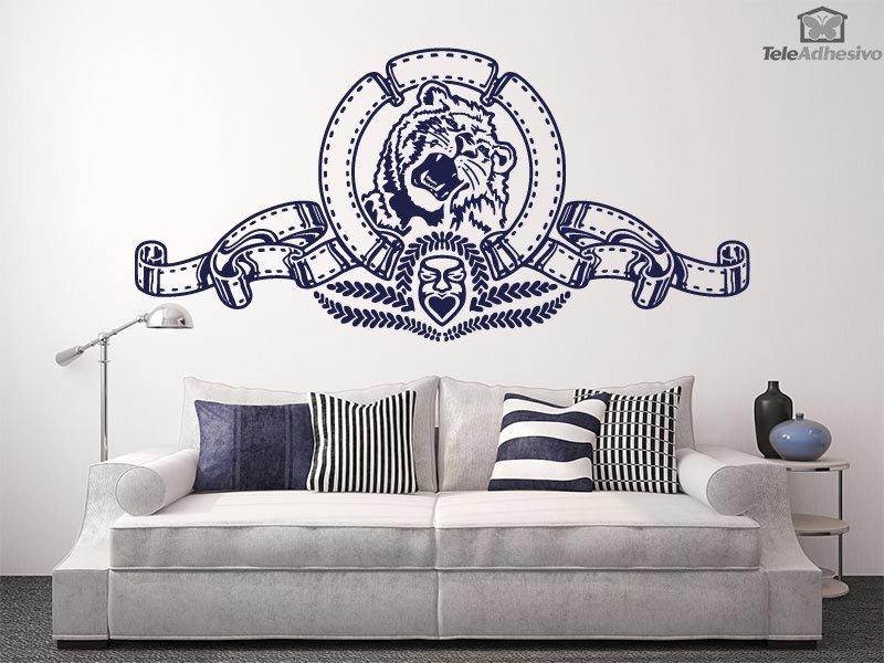 vinilo decorativo león de la metro