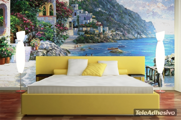 Fotomural costa mediterránea Capri