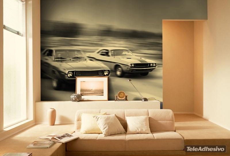 Fotomural decorativo coches buga