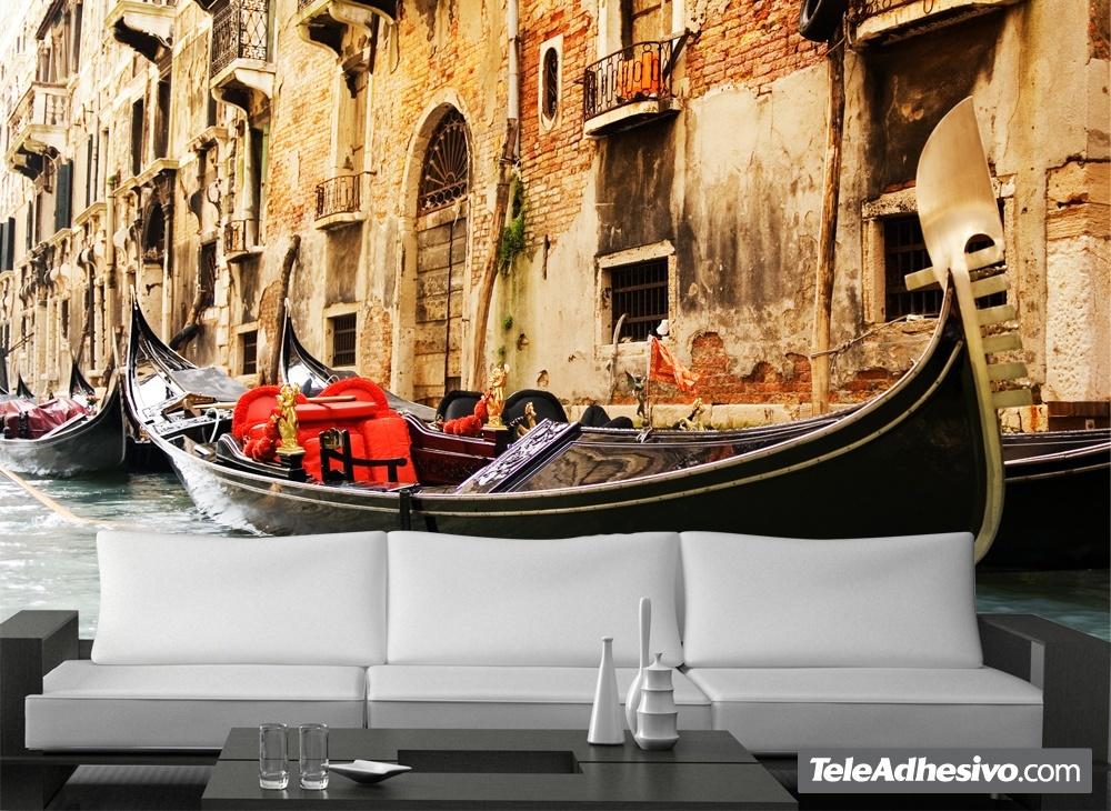 Fotomural decorativo para tu hogar Góndola Venecia