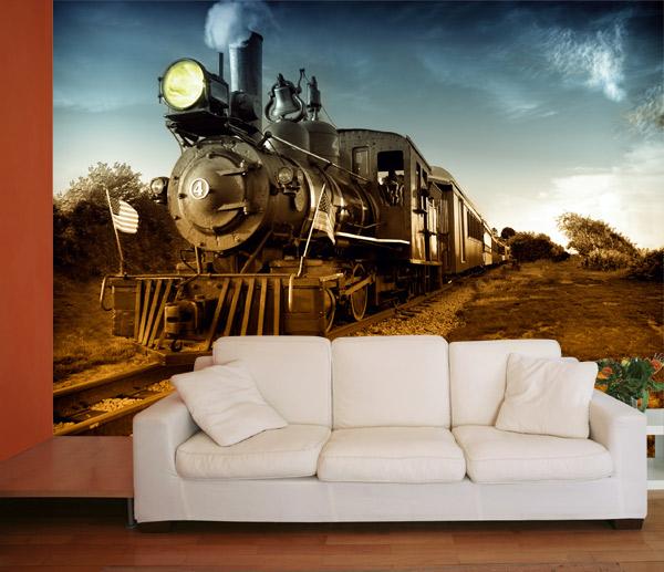 Fotomural decorativo de locomotora