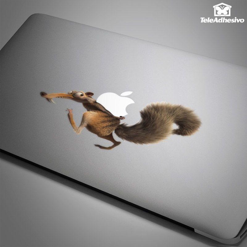 Pegatina para Macbook o Portátil Ardilla Scrat Ice Age