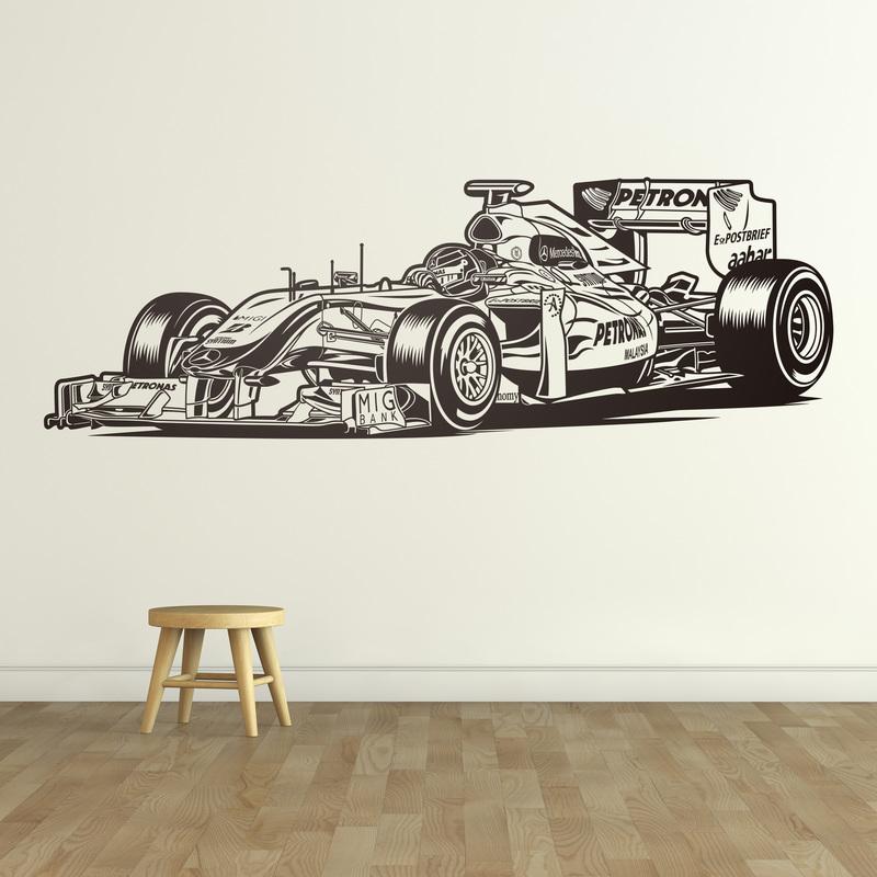 Vinilo decorativo coche de  Fórmula 1