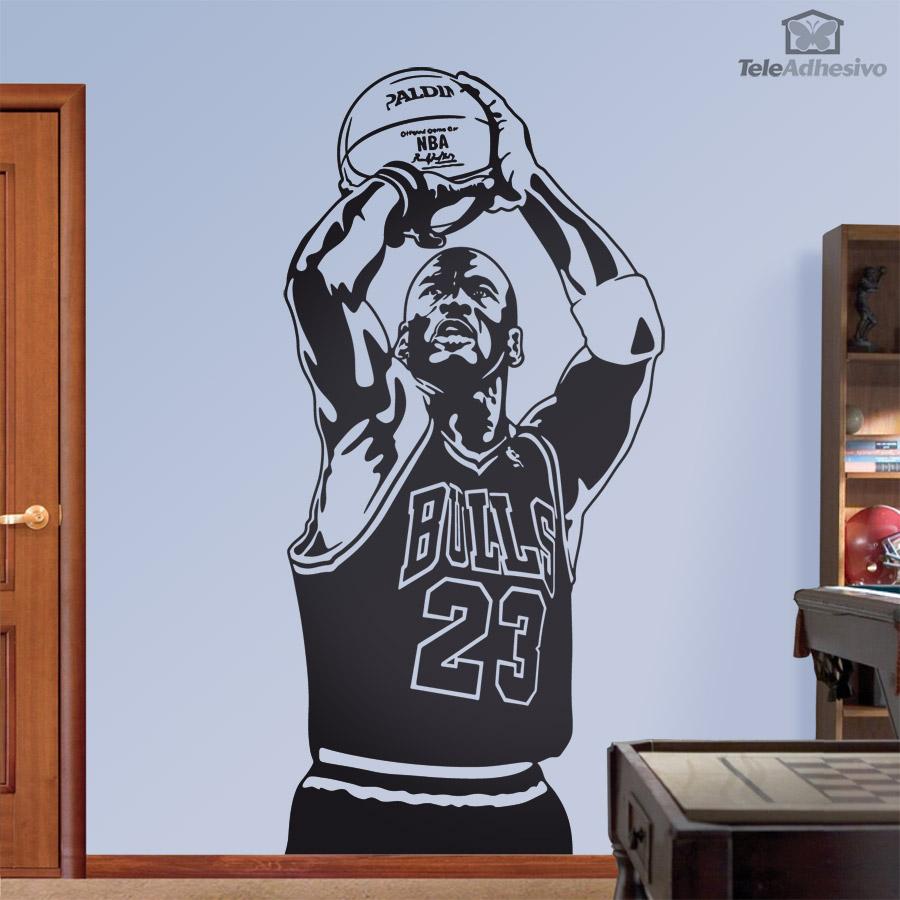 Vinilo decorativo deportivo Michael Jordan