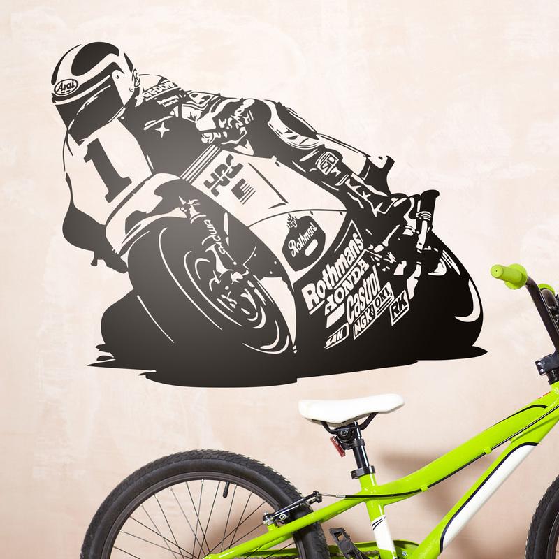 Vinilo decorativo moto de competición