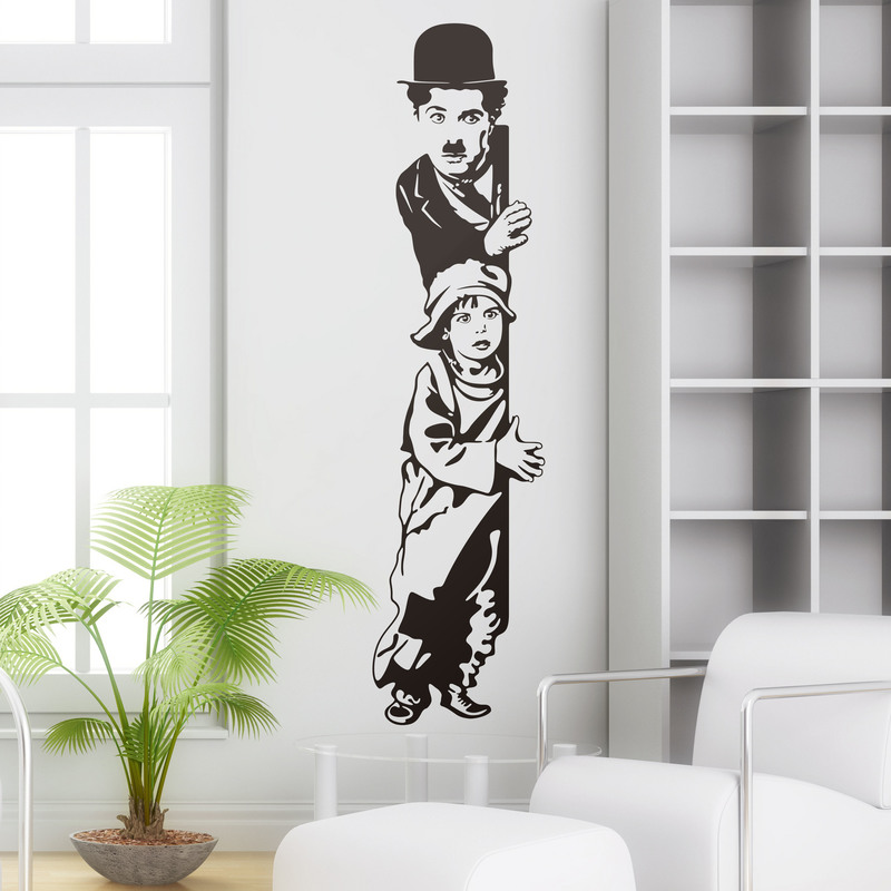 "Vinilo decorativo Charlie Chaplin ""The Kid"""