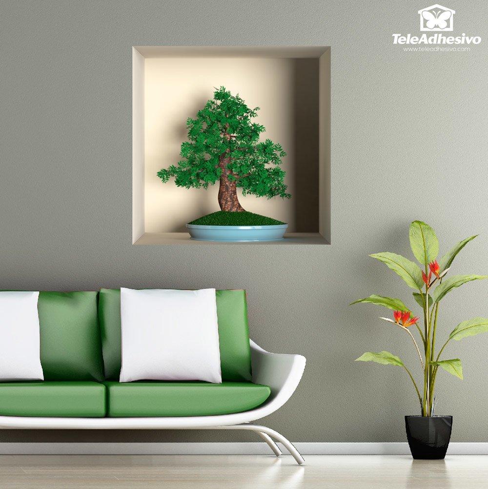 Novedad nicho decorativo bonsái