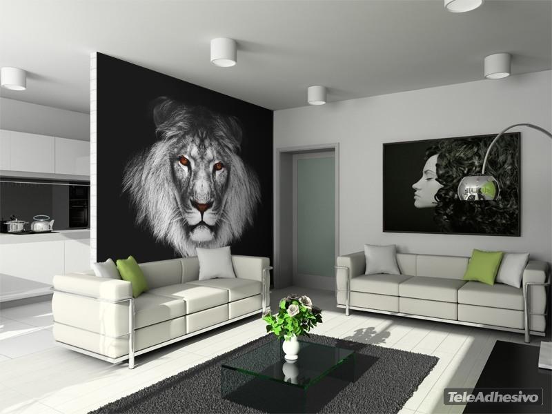 Fotomurales de animales el Gran León Africano