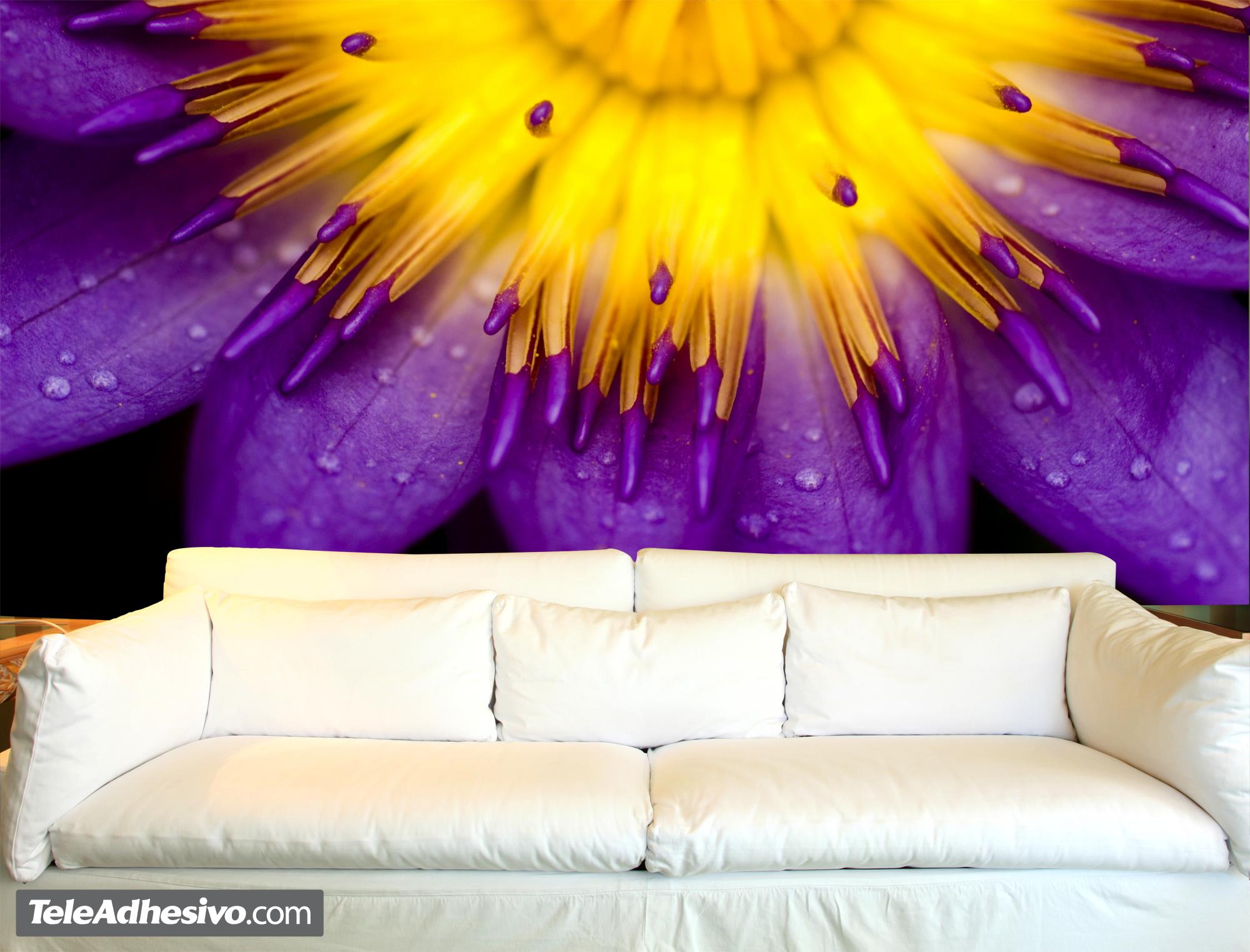 Fotomurales florales Loto púrpura