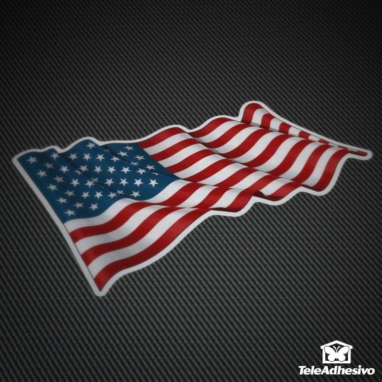 Pegatinas de la bandera de Estados Unidos