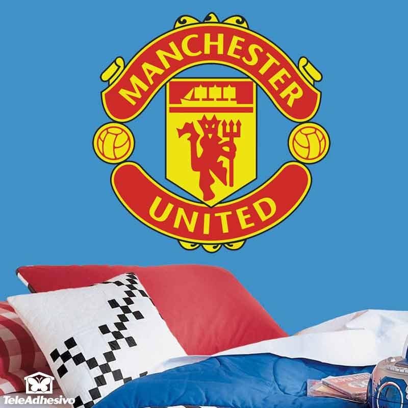 Vinilos decorativos escudo Manchester United