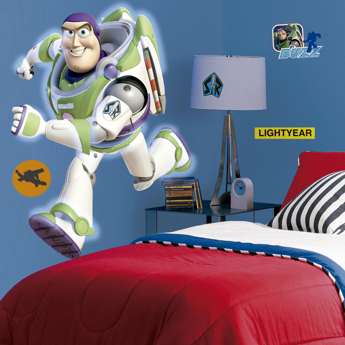Novedad vinilo infantil de personajes animados Buzz Lightyear