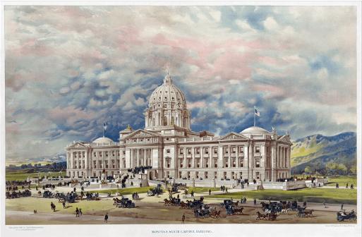 Fotomural cartel del capitolio de Montana