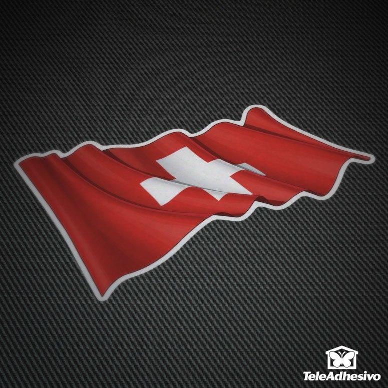 Pegatinas bandera de Suiza