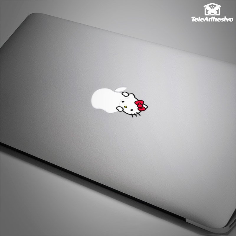 Pegatina para Macbook y pc de Hello Kitty