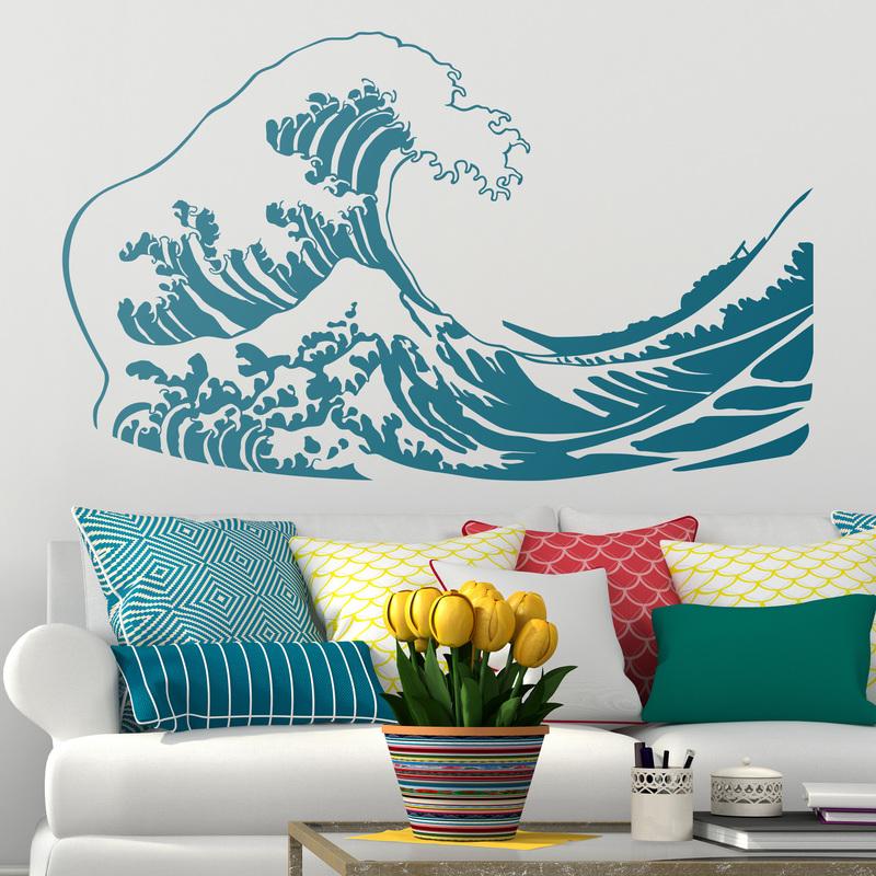 Vinilo decorativo gran ola de Kanagawa