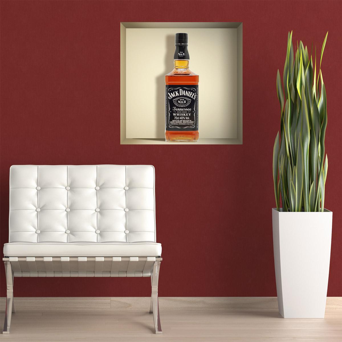 Novedad nicho decorativo botella Jack Daniels