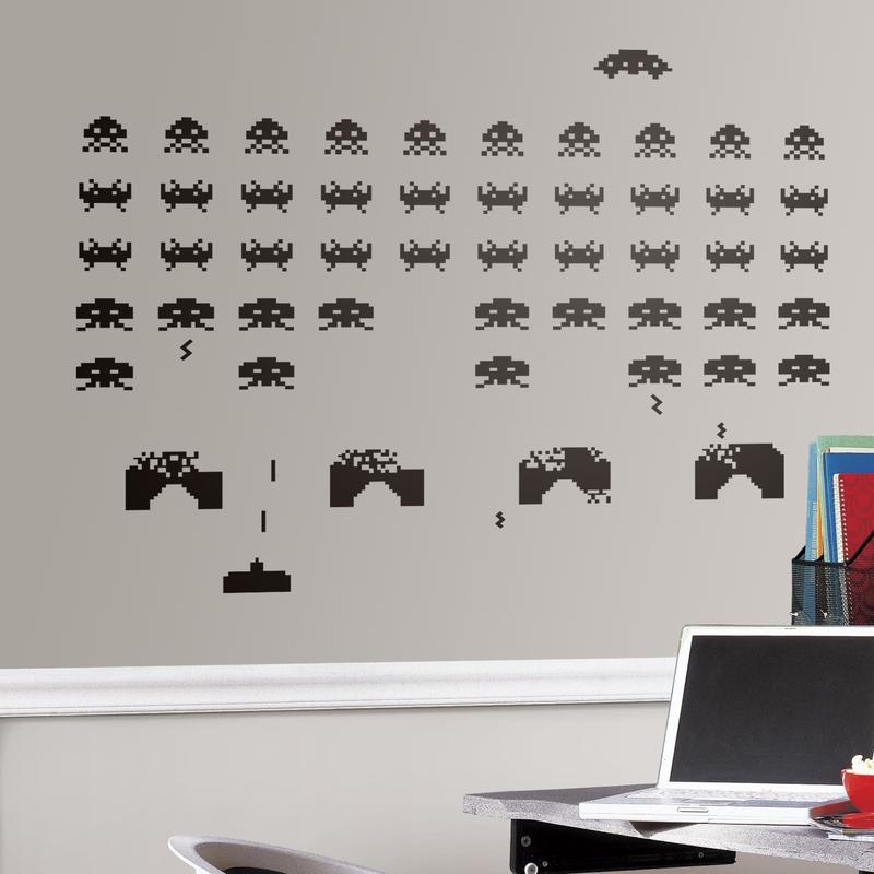Vinilo decorativo videojuego Space Invaders